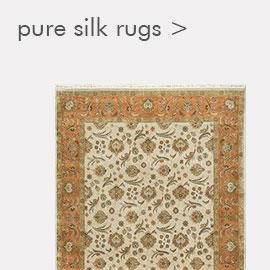 pure silk rugs