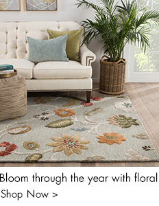 Bloom through the year with floral rugs