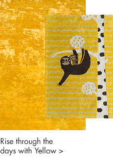 Yellow and gold handmade rugs