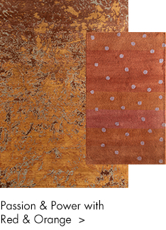 Red and orange color handmade rugs
