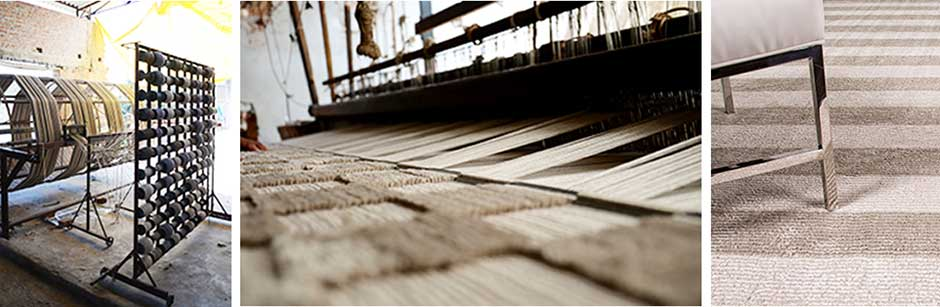 Handloom rug making process